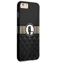 Fancy Animal Print Monogram Tough iPhone 6 Plus Case
