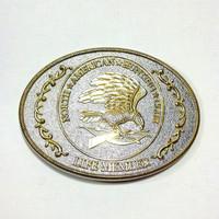 Hunt Club Vintage Buckle Eagle Belt Buckle North American Hunting Club