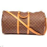 Louis Vuitton Keepall 55 Bandouliere with Strap Luggage 5666 (Authentic Pre-owned)