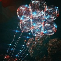 Christmas Clear PVC Balloon Transparent with String Light Birthday Wedding Party Decor Supplies
