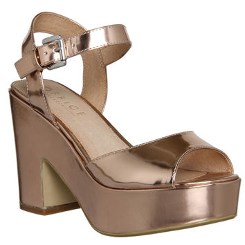 Office Dauntless Sandal Rose Gold Mirror - Mid Heels