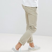 Lindbergh Chinos in Beige at asos.com