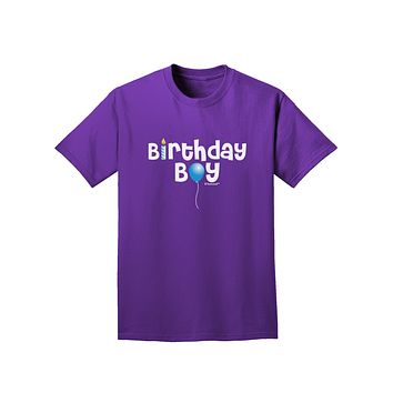 Birthday Boy - Candle and Balloon Adult Dark T-Shirt by TooLoud