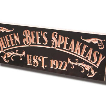 Carved Wooden Signs, Personalized Home Bar Sign, Personalized Pub Sign, Awesome Manly Gift, Benchmark Custom Signs Maple QB