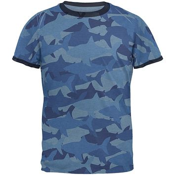 Great White Shark Camo Men's Soft T-Shirt