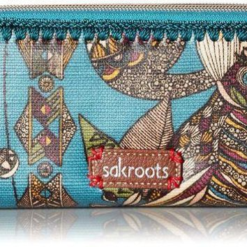 DCK4S2 Sakroots Artist Circle Double-Zip Wallet
