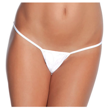 Low Rise Lycra G-string White O-s