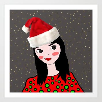 Christmas with you | Kids Painting | Only Love by Elisavet Art Print by Azima