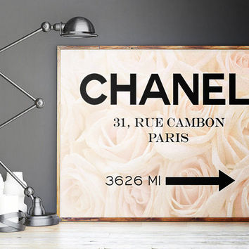 Fashion Print,Chanel 31 Rue Cambon,Fashion Decor,Fashionista,COCO CHANEL Quote,Office Decor,Home Decor,Girls Room Deco,Typography Poster