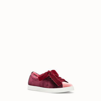 Red leather sneakers - SNEAKERS | Fendi | Fendi Online Store