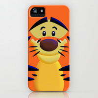 Cute Orange Cartoons Tiger apple iPhone 3, 4 4s, 5 5s 5c, iPod & samsung galaxy s4 case cover