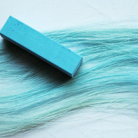 SKY BLUE - Hair Chalk // Single Stick Tint // Blue Dip Tie Dye Style // Boho Hipster Emo Scene Pastel Set // Safe for Human Hair