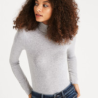 AEO Soft & Sexy Ribbed Turtleneck, Gray