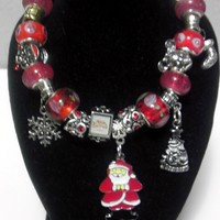 "Authentic Pandora Charm Bracelet-""Christmas Theme"""