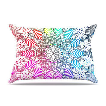 "Monika Strigel ""Rainbow Dots"" Pillow Case"