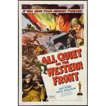All Quiet On The Western Front Movie poster Metal Sign Wall Art 8in x 12in