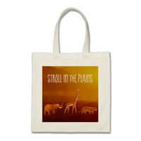 Stroll in the Plains Animals Budget Tote