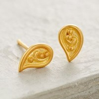 Gilded Paisley Drops by Anthropologie Gold One Size Earrings