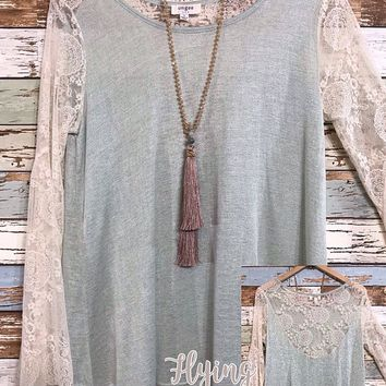Sage and Lace Top