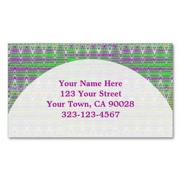Colorful Pink Green Pattern Double-Sided Standard Business Cards (Pack Of 100)