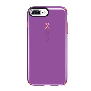 Speck Products CandyShell Cell Phone Case for iPhone 7 Plus - Revolution Purple/Warning Orange