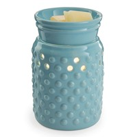 Candle Warmers Etc. Hobnail Illumination Wax Melt Warmer (Blue)