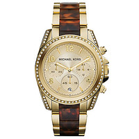 Michael Kors Glitz Blair Tortoise & Gold Watch