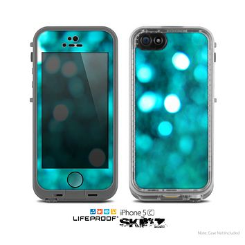 The Unfocused Subtle Blue Sparkle Skin for the Apple iPhone 5c LifeProof Case