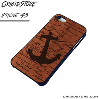 Wood Anchor Quote Case For Iphone 4/4S Case