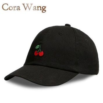 NOVO5 Baseball Cap Soft cotton Unisex Cherry  Embroidered fruits hat
