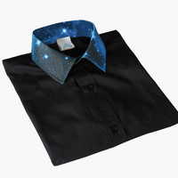 ANDCLOTHING — AND.ALSO Galaxy Collar Shirt