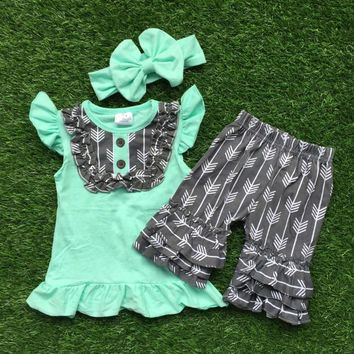 Tiffany Blue Arrow Short Set