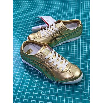 Asics Onitsuka Tiger Mexico66 Gold Casual Shoes Sneakers - Sale