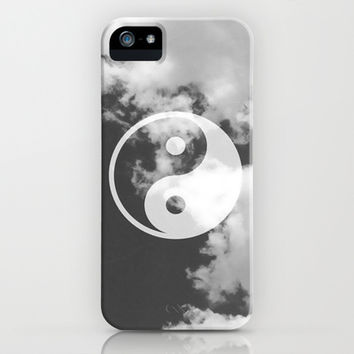 Black & White & Peace iPhone & iPod Case by Pink Berry Pattern