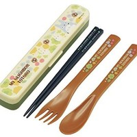 Chopsticks Spoon Fork Trio Set My Neighbor Totoro Garden