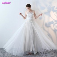 Gorgeous White Wedding Dresses 2017 New Sexy Formal Wedding Dress Long Tulle Appliques Beach Champagne Wedding Gowns Custom made