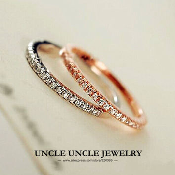 Silver, Rose Gold Plated Ring
