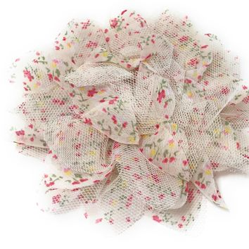 Vintage Tulle and Chiffon Hair Flowers