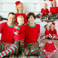 Family Matching Christmas Pajamas Family Clothing Mother Daughter Father Son Clothes Family Clothing Sets Family Style Set AI09