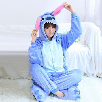 Stitch Hoodie Onesuit Adult Pajama Sleepwear Kawaii