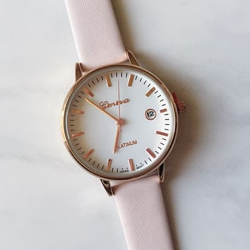 Classic Pink Gold Watch