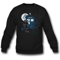 owl and tardis SWEATSHIRT CREWNECKS