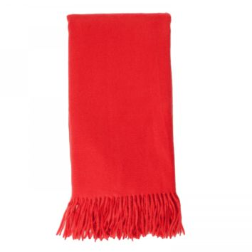 Cashmere Throw in Hot Coral by Alashan