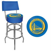 Golden State Warriors NBA Padded Swivel Bar Stool with Back
