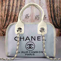 CHANEL Women Shopping Bag Leather Satchel Shoulder Bag Crossbody