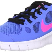 Nike Free 5.0 (GS) Youth Girls Distance Blue/Pink/Black/White Running Sneakers