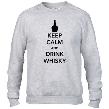 Keep Calm and Drink Whisky Crewneck sweatshirt