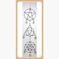 Pentagram, Triquetra, Solomon's Seal  Wind Chime