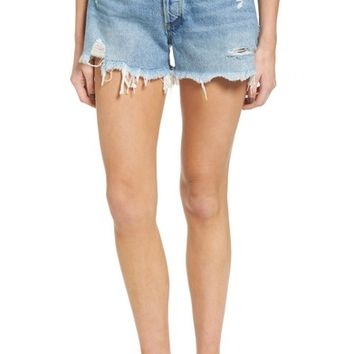 AGOLDE Parker Distressed Denim Shorts (Swapmeet) | Nordstrom