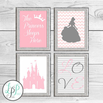 Princess Girl's Room Decor, Princess Nursery Print, Princess Room Decor, Gift for Young Girl,Baby Shower Gift for Girl, Girl's Room Wall Art